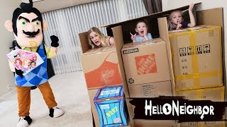 Hello Neighbor in Real Life Toy Scavenger Hunt!! Disney Princess Gem Collection Toys!