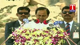 CM KCR Speaks Over Irrigation Projects | Independence Day Celebrations | Golconda  live