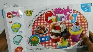 Play Doh with Fun Molds & Toys for Kids   Ice Cream   Membuat Es Krim dengan Lilin Mainan.