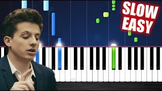Download Lagu Charlie Puth - How Long - SLOW EASY Piano Tutorial by PlutaX Gratis STAFABAND