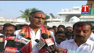 Kotha Prabhakar reddy Offers Special Prayers to Konaipally Venkateswara Swamy | Harish rao | Tnews