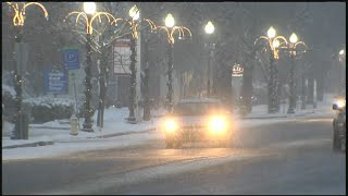 Several western Massachusetts counties saw some snowfall Tuesday