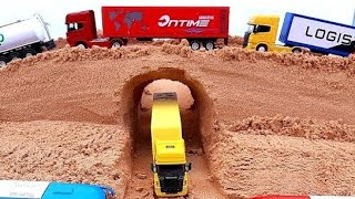 Truck excavator tractor car bus and dump truck vehicles for children