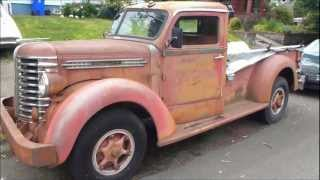 Unrestored Diamond T pickup truck