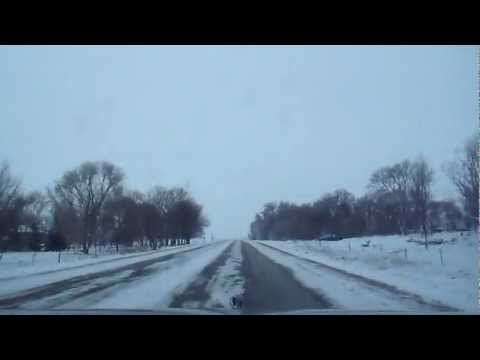 South Dakota Winter Drive Rural Scenery HD 4x time lapse