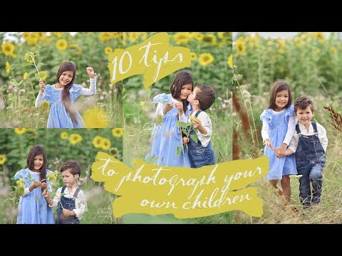 10 TIPS to PHOTOGRAPH (your own) CHILDREN outside -  BTS SUNFLOWER Photo Shoot