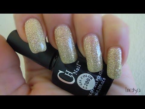 Gold Soak off gel polish review - Bornprettystore