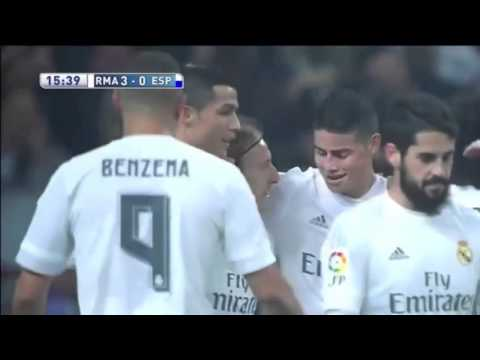 Real Madrid vs Espanyol 6-0 All Goals & Highlights (01-02-2016)