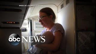 Mom claims baby lost consciousness on delayed flight