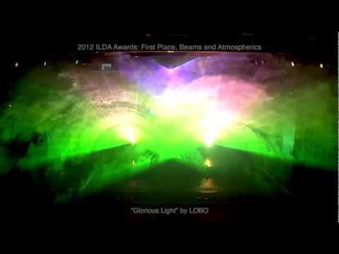 """2012 ILDA Awards, Beams and Atmospherics, 1st Place: """"Glorious Light"""" by LOBO"""