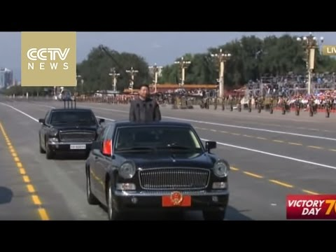 President Xi Jinping inspecting formations from PLA