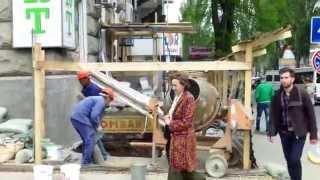 Șantier periculos peste drum de MAI