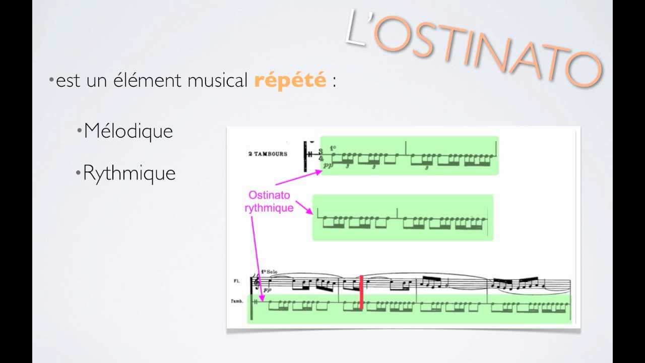 exemple de ostinato harmonique