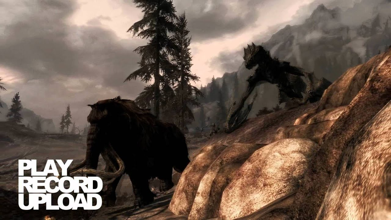 Skyrim Mammoth vs Dragon Skyrim Dragon vs Mammoth