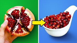 30 LIFE HACKS TO PEEL AND CUT FRUITS
