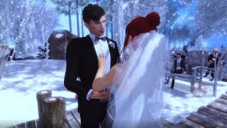 The Wedding of Trouble Dethly and  Delicate Flower Second Life