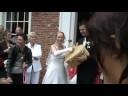Samantha & Rob witte bruidsduiven...
