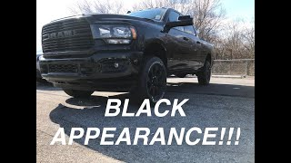 2019 RAM 2500 BIG HORN BLACK APPEARANCE - YEA IT'S BLACKED OUT!!!