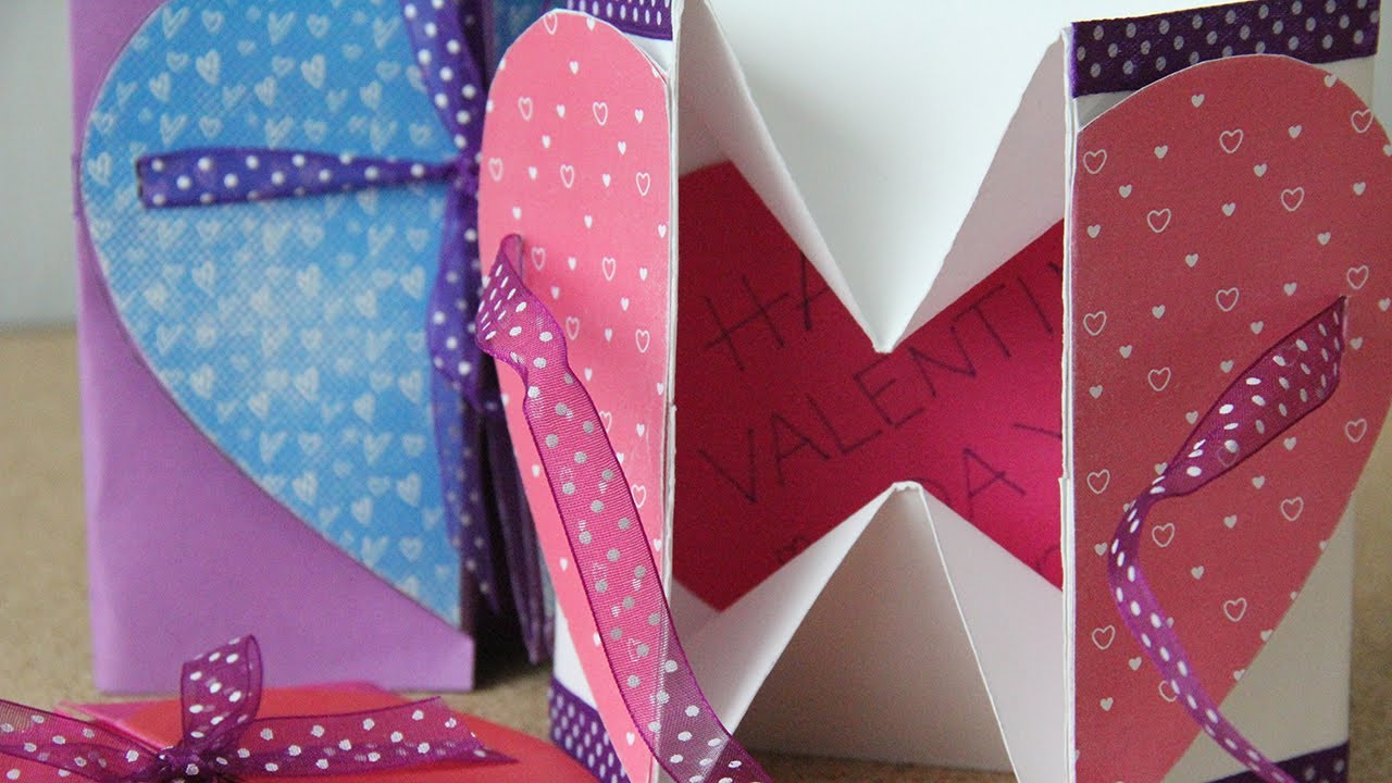 Boxcard para enamorados caja o tarjeta youtube - Manualidades para hacer tarjetas ...