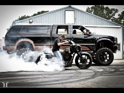 Lifted Ford Harley-Davidson Edition Truck with matching ...