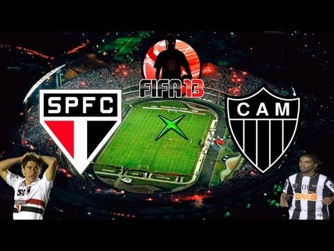 Fifa 13 -  So Paulo x Atltico Mineiro - Melhores Momentos - 02-05-13