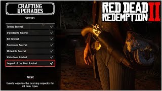 THE ULTIMATE GUIDE FOR CRAFTING ALL SATCHEL UPGRADES!! - Red Dead Redemption 2 Tips & Tricks
