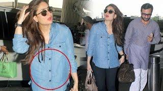 Kareena Kapoor Flaunts Her BABY BUMP in 'KALA CHASHMA' At Mumbai Airport