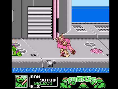 Teenage Mutant Ninja Turtles III - The Manhattan Project - Foxy plays Vizzed.com GamePlay - User video