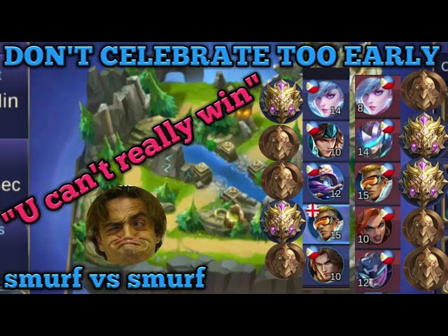 smurf vs smurf | don't celebrate too early