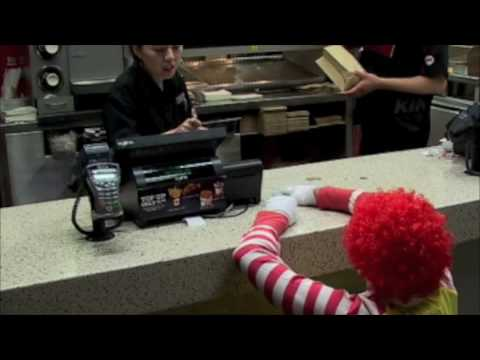 Ronald McDonald s visit to Burger King