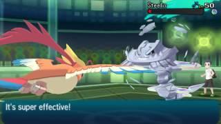 Pokemon Sun Moon: Mega Pidgeot vs Mega Steelix (1080p)