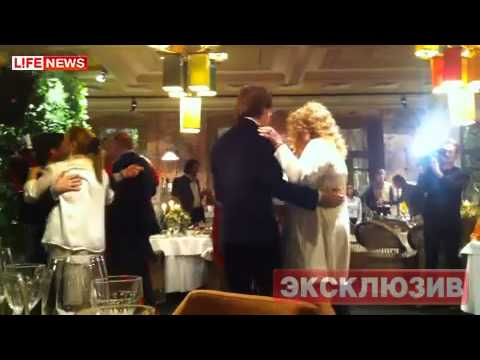 Кристина, Дени, Никита и Аида на свадьбе АБ и МГ