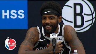 Kyrie Irving on Kevin Durant's injury, Celtics and signing with the Nets | 2019 NBA Media Day