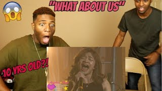 "Download Lagu Angelica Hale: 10 Year-Old Sings ""What About Us"" by Pink  - 2018 Organ Project (REACTION) Gratis STAFABAND"