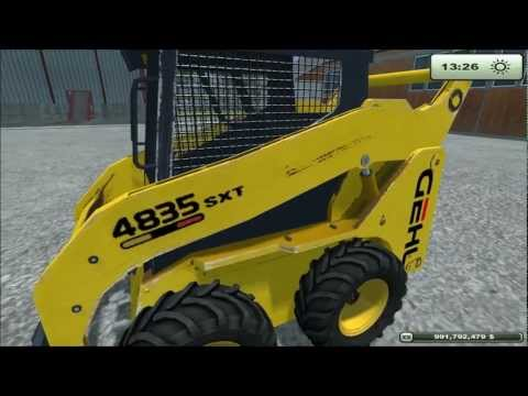 Mod for Farming Simulator 2013 Gehl 4835 SXT Skidsteer REVIEW