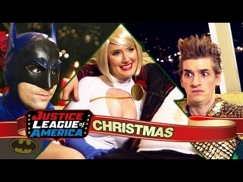 An Awkward Justice League Christmas video