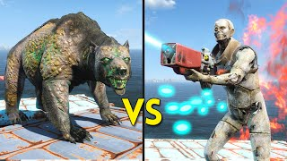 Fallout 4 - 25 Yao Guai VS 250 Synths - Battles #10