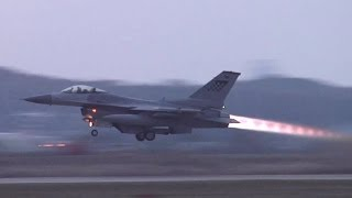 F-16 & A-10 Takeoff at Osan Air Base (2013)
