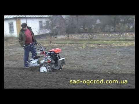 Вспашка мотоблоком Гепард (Видео 3)