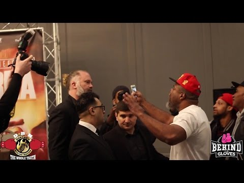 (YOU WONT BELIEVE THIS) SHANNON BRIGGS INVADES DAVID HAYES PRESS CONFERENCE