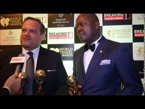 Valentine Ozigbo and Etienne Gailliez, managing director and general manager, Transcorp Hilton Abuja