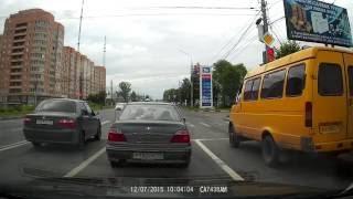 Лихой автобус и наглый Daewoo (Дэу) !!!