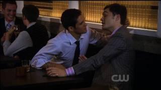 Chuck Bass Gay Kiss (Gossip Girl, 10-19-09)