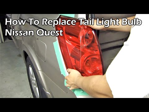How to Replace Brake Light Bulb - Nissan Quest