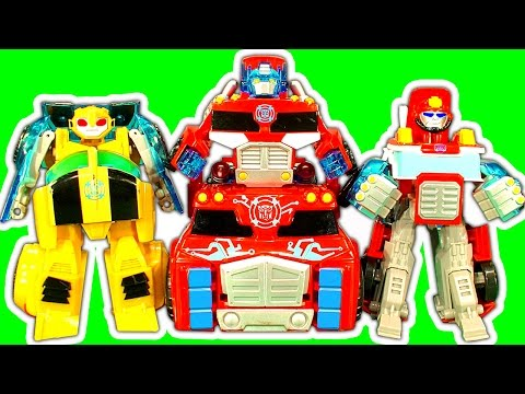 Transformers Optimus Prime Rescue Bots Vs Dinosaur Train Attack