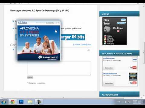 Descargar Windows 8 e instalarlo español 32 & 64 bits1 en español gratis