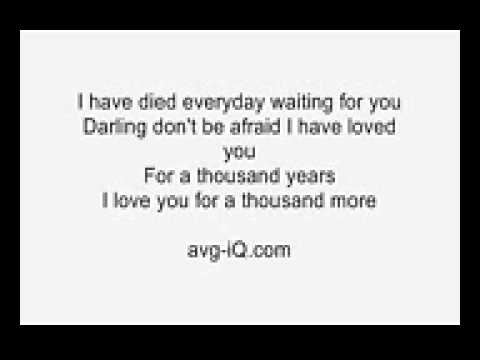 Christina Perri – A Thousand Years Lyrics | Genius Lyrics