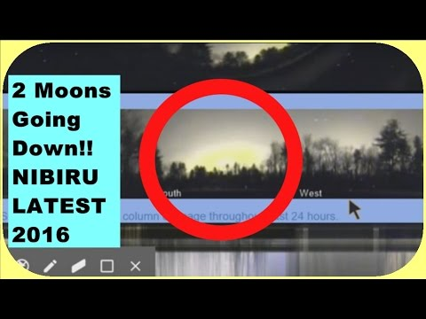 2 Moons Going Down Spotted!! Real live footage - Nibiru Planet X latest 2016