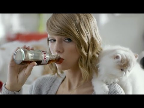 Taylor Swift New Song in Cat-Filled Diet Coke Commercial!