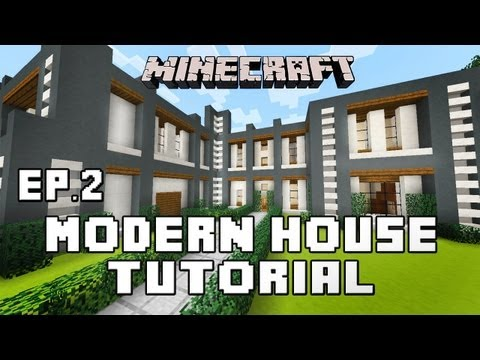 Minecraft Tutorial: How To Build A Modern House Ep.2 Second Story And Roof